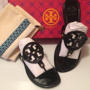 Tory Burch Black Patent Miller 9.5